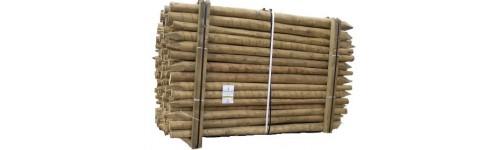 Estacas de madera tratada - Estacas de madera para cierres ...