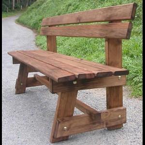 Agromarket s l banco de jard n modelo patr n 200 cm - Bancos de madera para banos ...
