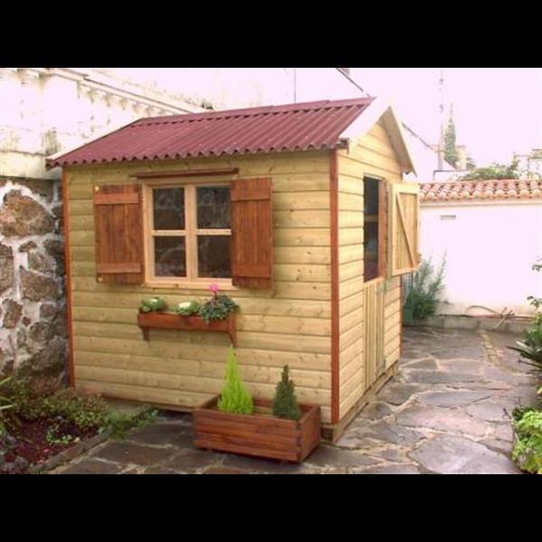 Agromarket s l caseta jard n modelo pic n 240 x 240 for Casetas de jardin con suelo